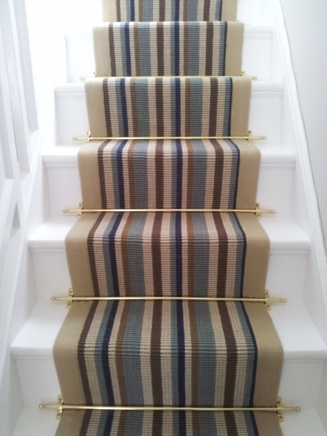 Modern Carpet Runners For Stairs Brushed Brass Photo 02