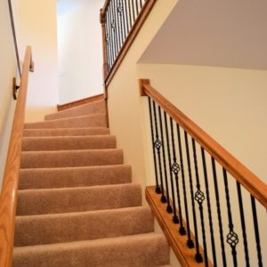 Carpeting Stairs with Spindles