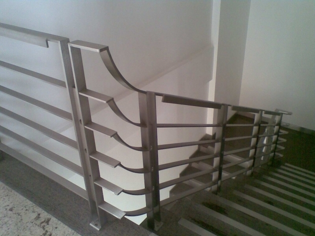 Horizontal Stairs Railing Designs In Steel Images 48