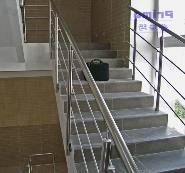 Marvelous Oncept Stairs Railing Designs In Steel Concrete  Photo 77