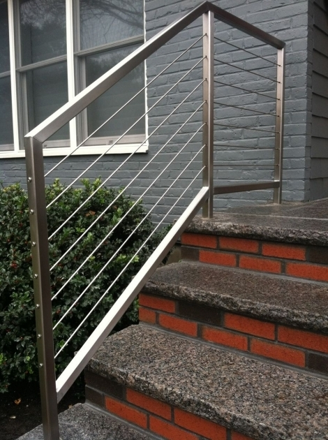 Modern Stairs Railing Designs In Steel With Perfect Flooring Photo 49
