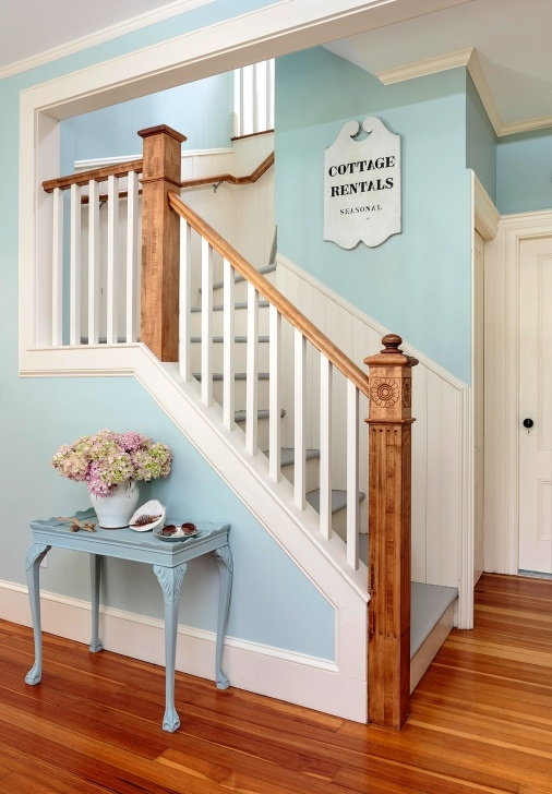 Painting Stair Railing Ideas Antique Wood Staircase Cottage Style Home