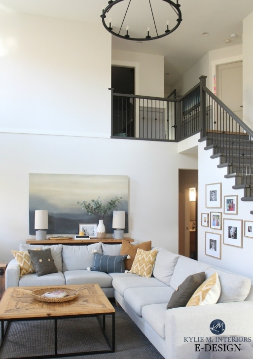 Painting Stair Railing Ideas Living Room Tall Ceiling Vaulted Benjamin Moore