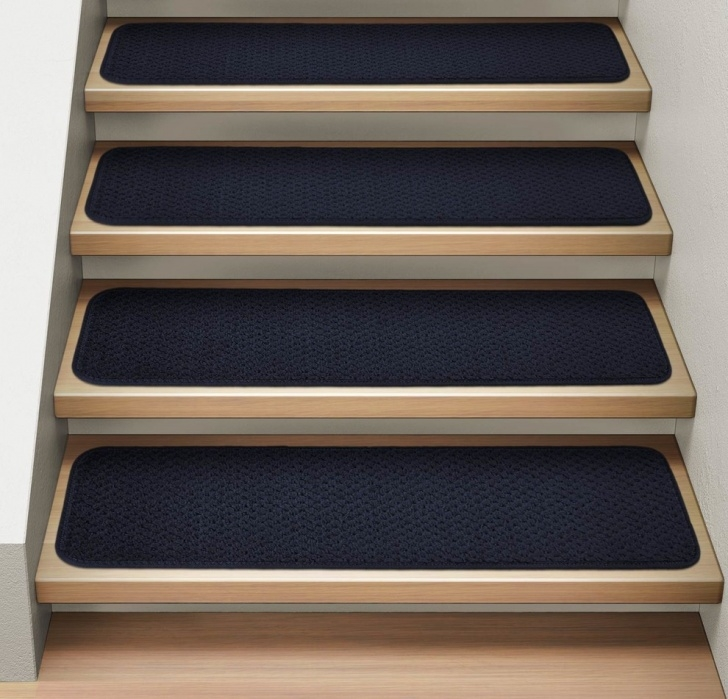 Carpet Strips For Stairs Carpet Strips For Wood Stairs Attachable Carpet Stair Treads, Navy Blue, Set Of 15, 8X23.5