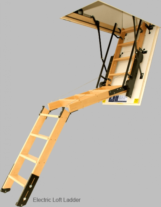Attic Stair Pull Down Pole Attic Stairs | Attic Pull Down Stair | Electric Attic Stairs Picture 681