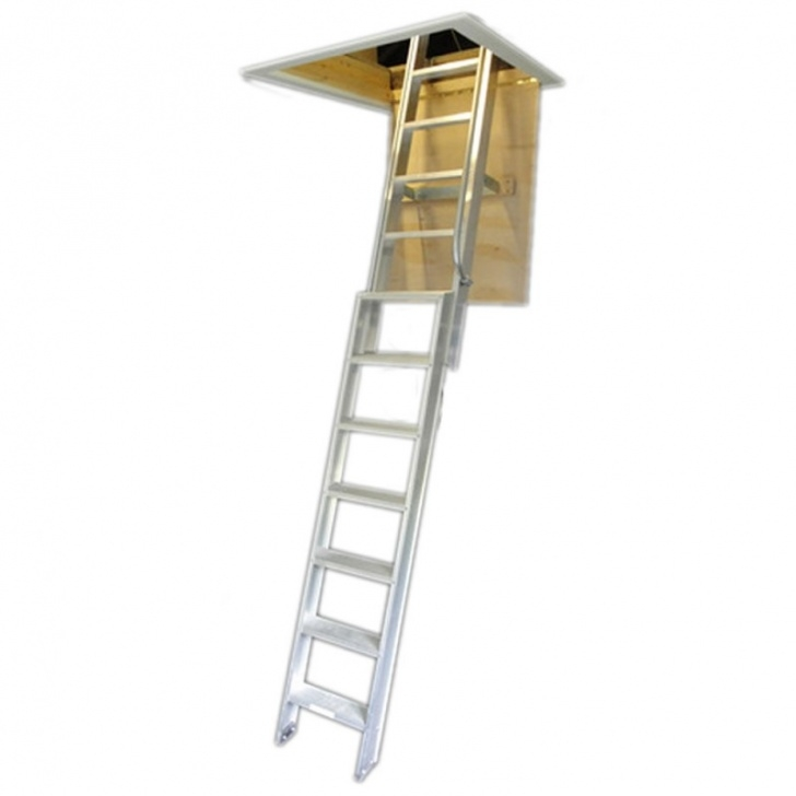 Attic Stair Pull Down Pole Clow Deluxe Aluminium Loft Ladder Picture 353
