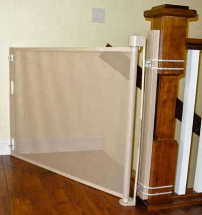 Cat Gates For Stairs The Retractable Safety Gate Or Baby Gate Can Even Be Image 212