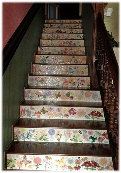 Decorative Tile For Stair Risers This Flower Ceramic Tile And Butterfly Ceramic Tile Picture 851