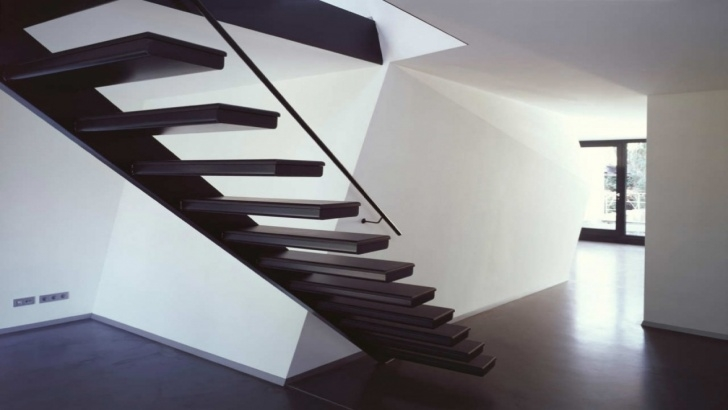 Floating Stair Brackets Yellow Decor Kitchen, Floating Stair Tread Brackets Modern Picture 893