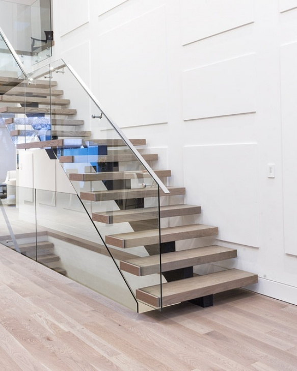 Floating Stair Tread Mounting Brackets Mrail Modern Stairs | Mono Stringer Stairs Picture 169