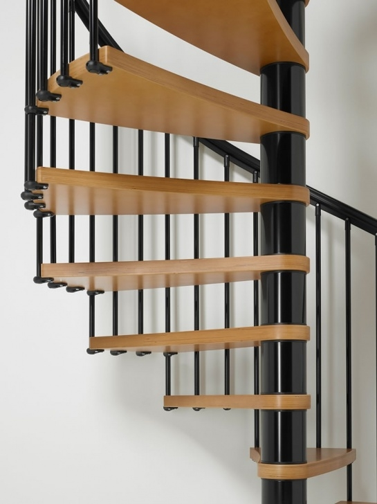 Floating Staircase Kits Arke Nice 1 Spiral Staircase Kit   Wood Tread Spiral Stairs Photo 672
