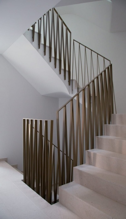 Floor To Ceiling Stair Rail Designs Stair Railing Detail - This Design In Matte Black Finish Photo 297
