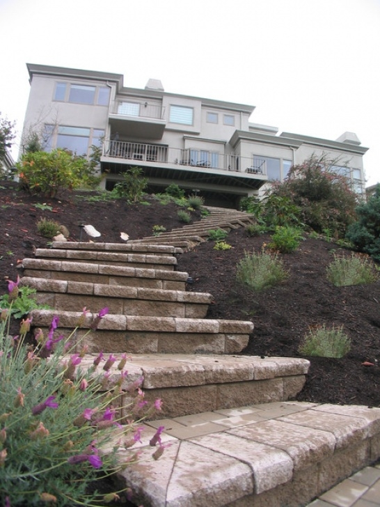 Hillside Stair Ideas Steep Slope Hillside Landscape Picture 258