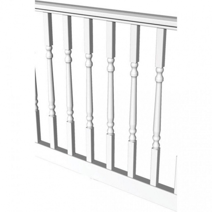 Home Depot White Vinyl Stair Railing Rdi Original Rail 6 Ft. X 36 In. White Vinyl Turned Photo 796