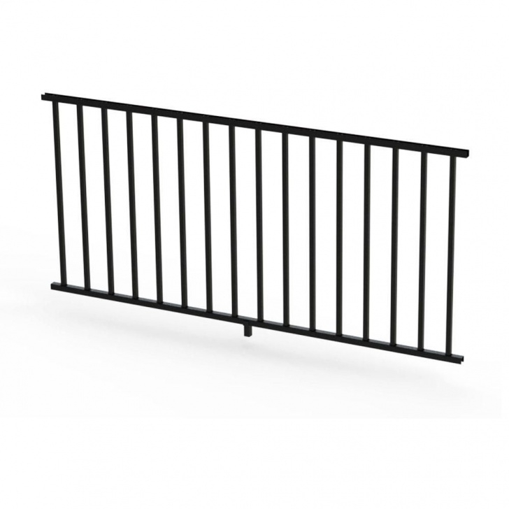 Home Depot White Vinyl Stair Railing Rdi Satin Black 36 In. Aluminum Panel Rail Kit With Square Picture 666