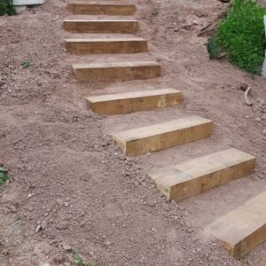 How To Build A Stair Way Into A Hill