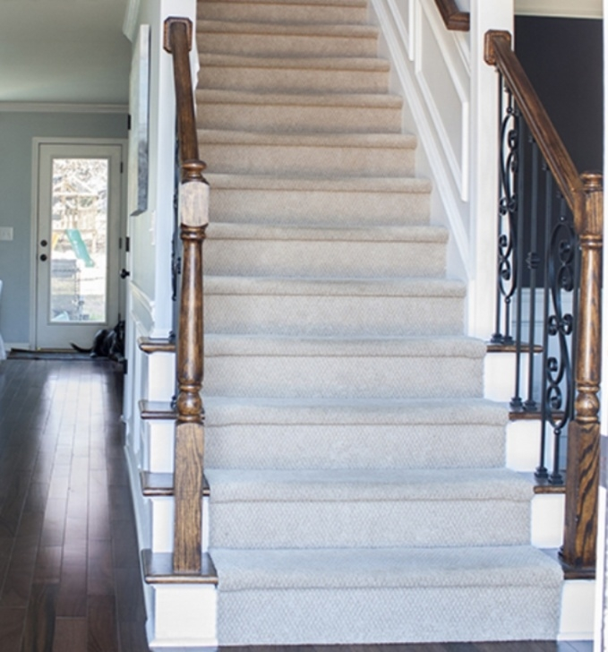 How To Change Stairway Spindles Replace Wood Stair Spindles Or Balusters With Wrought Iron Photo 057