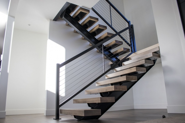 Metal Stair Dimensions Hand Made Steel I-Beam Mono Stringer Stairs By Industrial Image 365