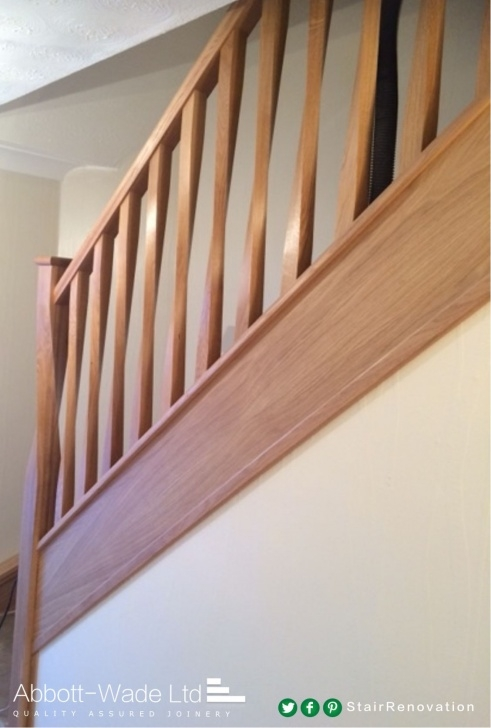 Oak Stair Spindles Abbott-Wade Twisted Oak Spindles With A Twisted Newel Post Image 044