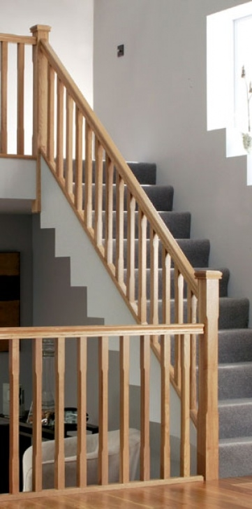 Oak Stair Spindles White Oak Stairparts - Stair Balustrading Uk Distributor Image 365
