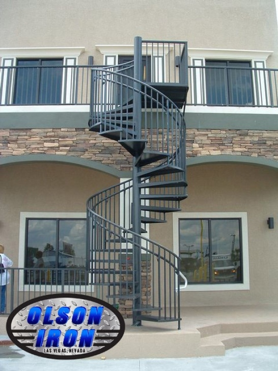 Outdoor Spiral Staircase Design Iron Stairs & Spirals Las Vegas | Custom Wrought Iron Photo 406