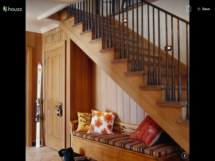 Pictures Of Stair Bench And Storage Love The Black Painted Spindles And The Bench Tucked Under Picture 477