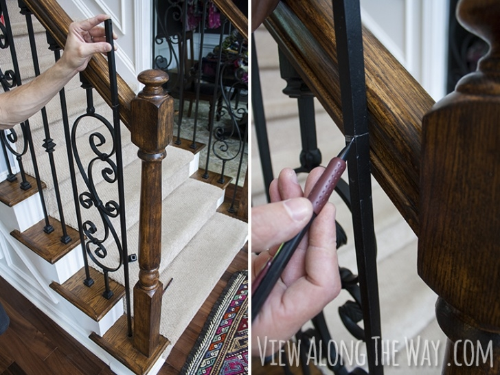 Replace Spindles On Stairs How To Install Iron Balusters - * View Along The Way Image 806