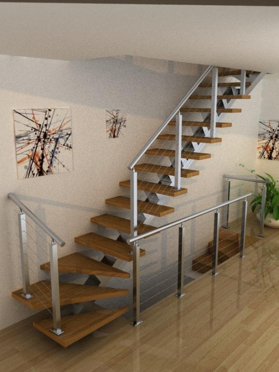 Simple Staircase Designs Simple Design L Shape Stairs With Safety Structure For You Image 076