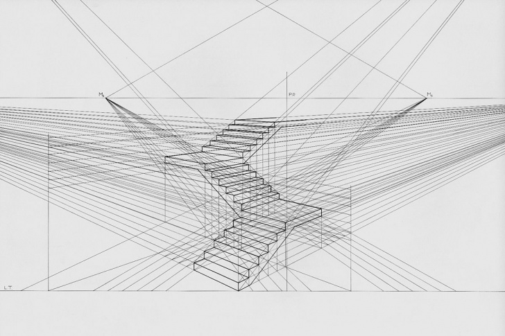 Small Stairs Drawing Perspective (Graphical) - Wikipedia Photo 428