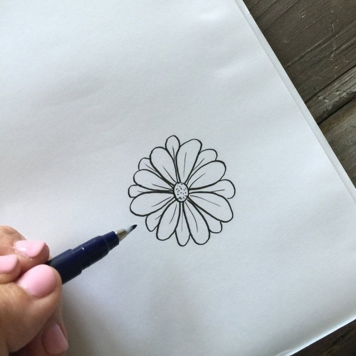 Small Stairs Drawing Simple Steps For Drawing Flowers | Small Flower Drawings Photo 913