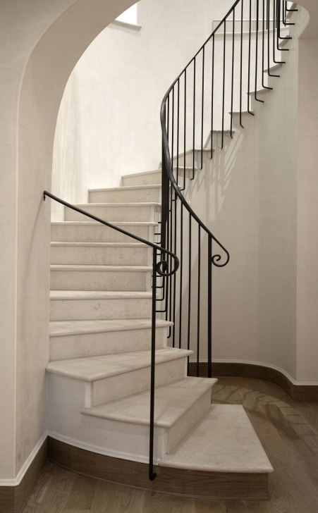 Spiral Staircase And Handrails Design Ideas Montecito | Ryan Street & Associates | Escaleras De Mármol Picture 394