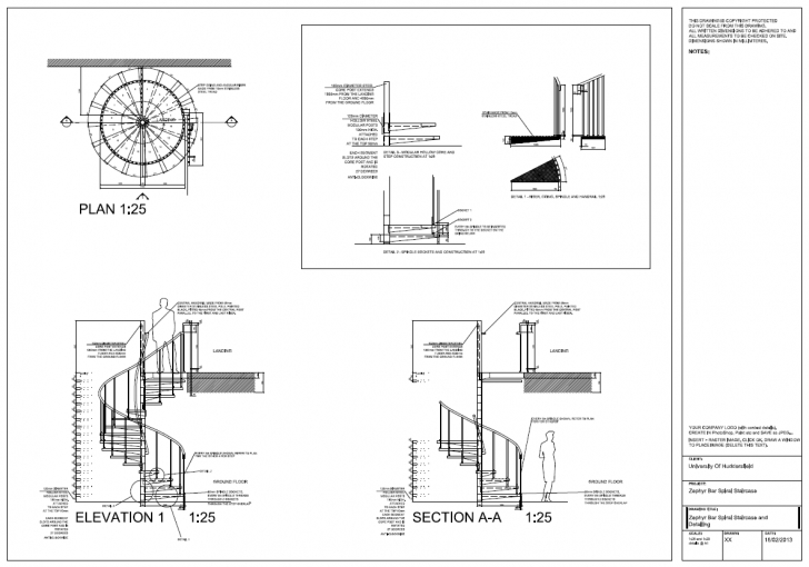 Spiral Staircase Measurement Innovation, Style And Progress: Detail Drawing Final Plot Photo 250