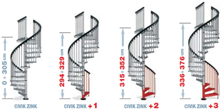 Spiral Staircase Standards Dimensions Civic Zink With Additional Risers | Spiral Stairs Design Photo 868