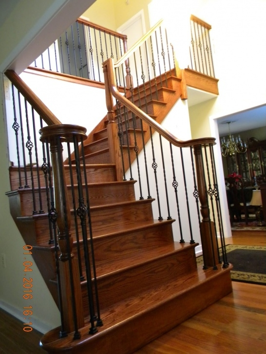 Stair Spindles Wood Stairs And Rails And Iron Balusters: Custom Stair Image 034