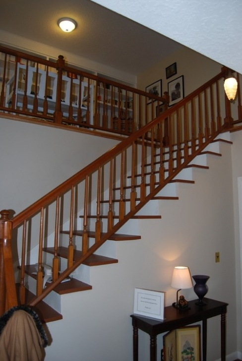 Stairs And Handrails Mail New Bannister Handrail: Paint It White Or Stained To Match Photo 179