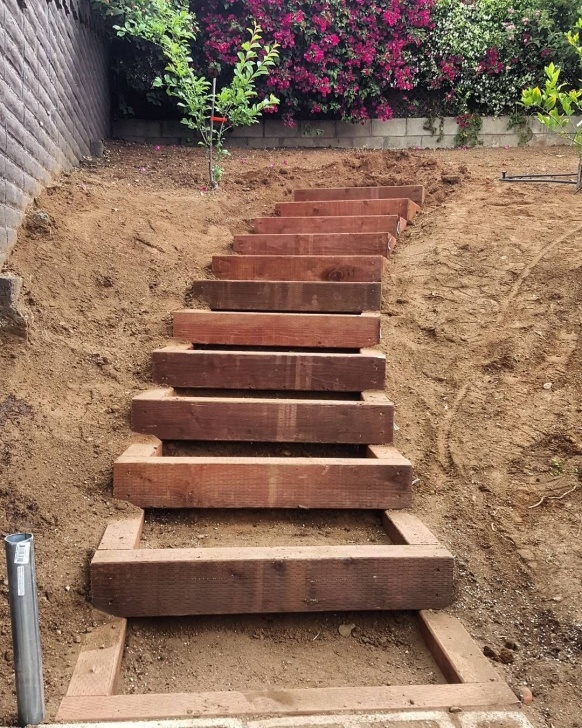 Stairs For Hill Built A Nice Set Of Timber Garden Stairs Today Up An Image 728