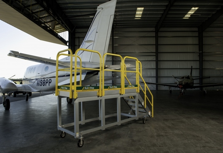 Stairway And Working Platform Standard Rollastep® Rolling Stairs And Mobile Work Platforms Are Image 375