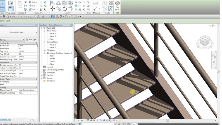Steel Stair Case And Its Dimension Revit : Steel Staircase - Youtube Image 678