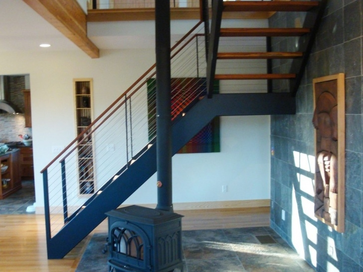 Steel Stair Dimensions Ithaca Cable Railing And Stairs - Ithaca, Ny By Keuka Studios Image 519