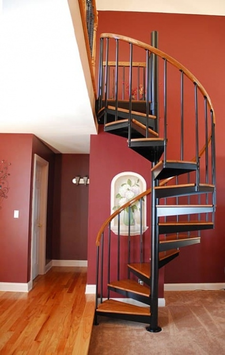 Swirl Stair Turning A Loft Into A Library - Salter Spiral Stair Picture 331