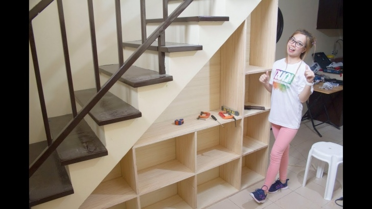 Under Basemebt Stairs Shelves Diy Plans Building Shelves Under The Staircase With Storage - Youtube Photo 781
