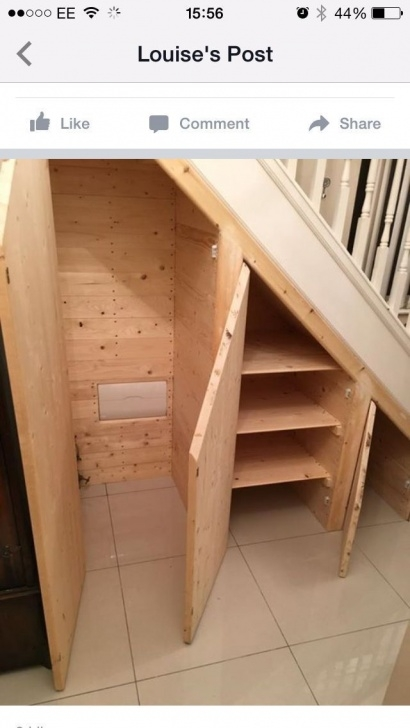 Under Basemebt Stairs Shelves Diy Plans Riiul By Ylle | Staircase Storage, Diy Storage Shelves Image 066