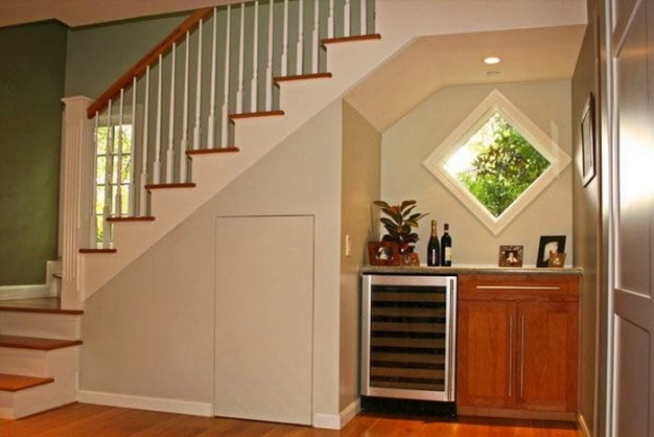 Under Stairs Design Where And How To Hide A Refrigerator: 7 Options For Any Photo 839