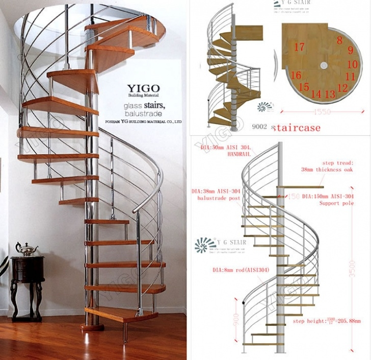 What Is The Standard Diameter Of A Circular Staircase Aluminum Spiral Stairs/Spiral Staircase Dimensions - Buy Photo 926