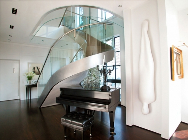 Circular Staircase Design Engaging Decoration Contemporary Slim Spiral Chrome Staircase Designs Pictures 93
