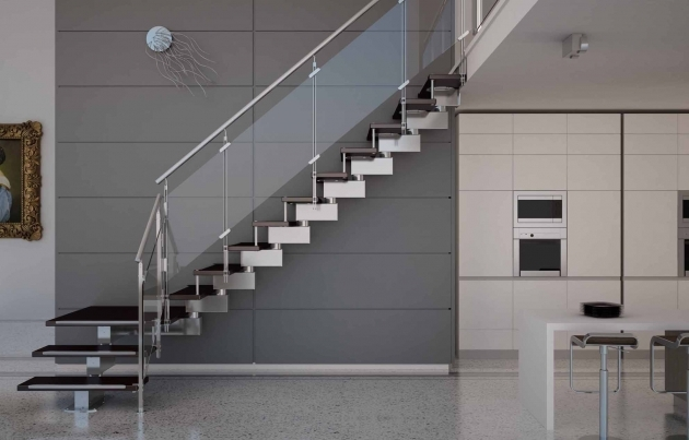 Modern Stair Railings Contemporary Interior Staircase Design  Picture 98