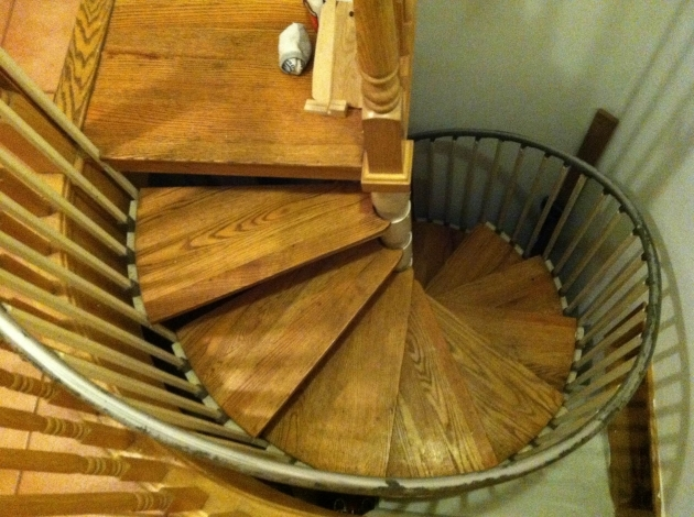 Oak Spiral Staircase With Metal Spiral Stair With Oak Treads Image 81
