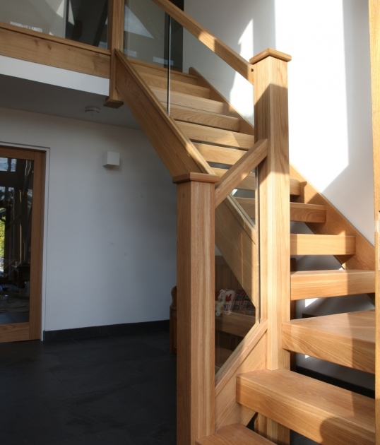 Oak Staircase Ideas Chunky Oak And Glass Staircase Stairs Decorating Ideas Pictures 92