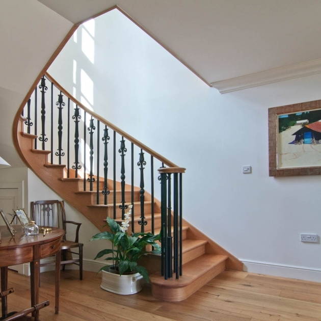 Oak Staircase Ideas Home Interior Decor With Spiral Staircase Including Black Wrought Iron Staircase Spindles Pictures 91