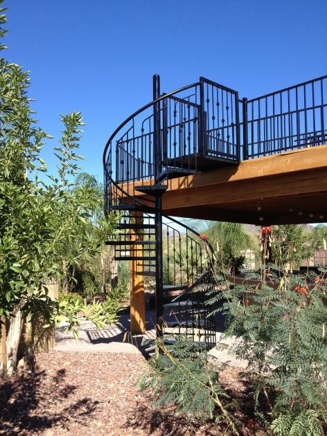 Outdoor Spiral Staircases Black Iron Picture 27
